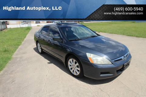 2006 Honda Accord for sale at Highland Autoplex, LLC in Dallas TX