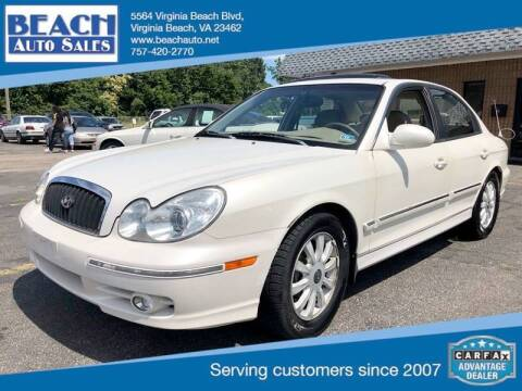 2003 Hyundai Sonata for sale at Beach Auto Sales in Virginia Beach VA