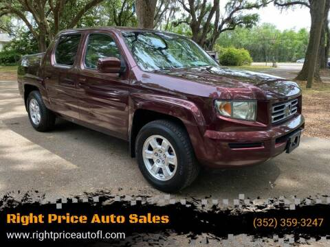 2008 Honda Ridgeline for sale at Right Price Auto Sales-Gainesville in Gainesville FL