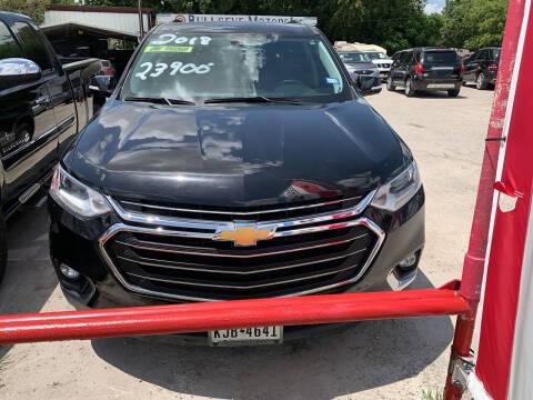 2018 Chevrolet Traverse for sale at BULLSEYE MOTORS INC in New Braunfels TX