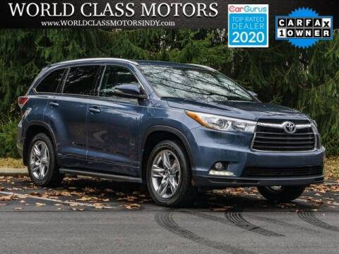 2015 Toyota Highlander for sale at World Class Motors LLC in Noblesville IN
