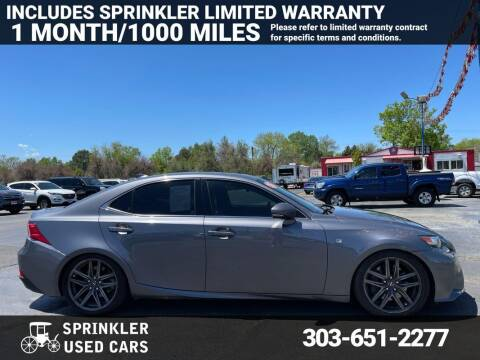 2015 Lexus IS 350 for sale at Sprinkler Used Cars in Longmont CO