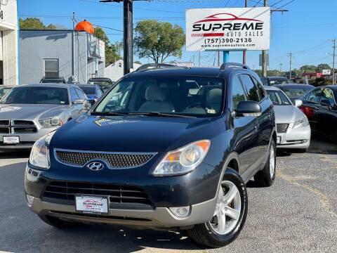 2008 Hyundai Veracruz for sale at Supreme Auto Sales in Chesapeake VA