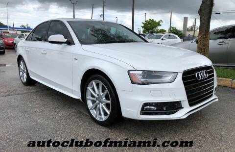 2016 Audi A4 for sale at AUTO CLUB OF MIAMI in Miami FL