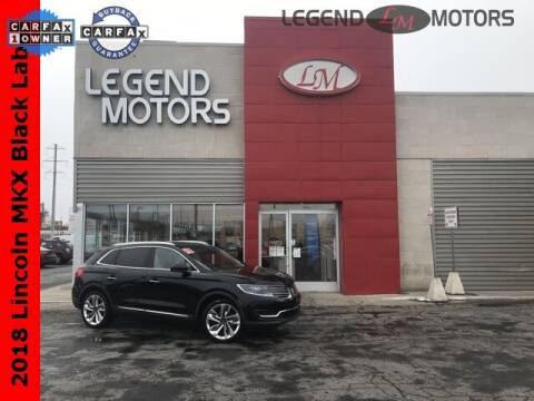 2018 Lincoln MKX for sale at Legend Motors of Detroit - Legend Motors of Ferndale in Ferndale MI