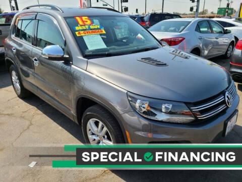 2015 Volkswagen Tiguan for sale at Super Cars Sales Inc #1 in Oakdale CA