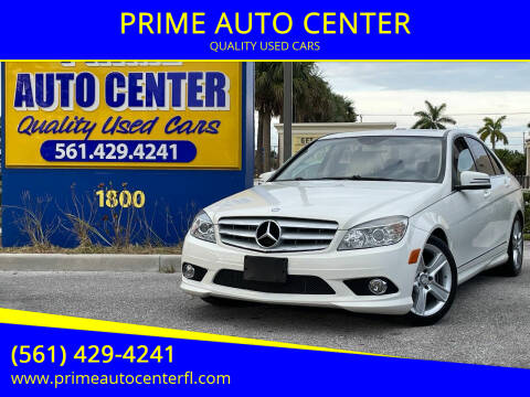 2010 Mercedes-Benz C-Class for sale at PRIME AUTO CENTER in Palm Springs FL