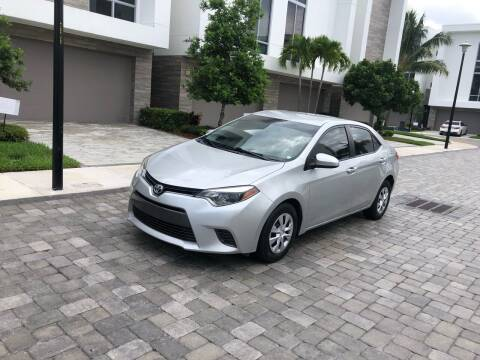 2015 Toyota Corolla for sale at CARSTRADA in Hollywood FL