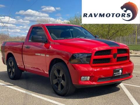 2012 RAM Ram Pickup 1500 for sale at RAVMOTORS in Burnsville MN