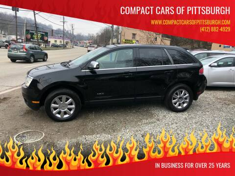 2007 Lincoln MKX for sale at Compact Cars of Pittsburgh in Pittsburgh PA