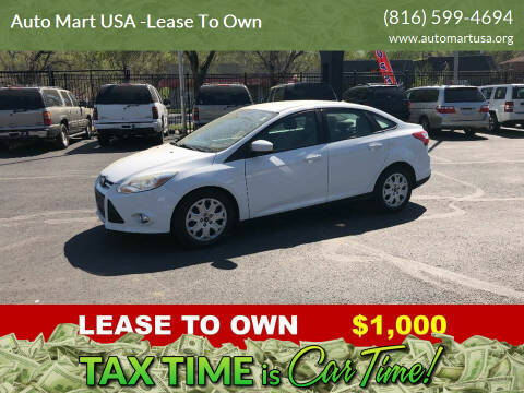 2012 Ford Focus for sale at Auto Mart USA -Lease To Own in Kansas City MO