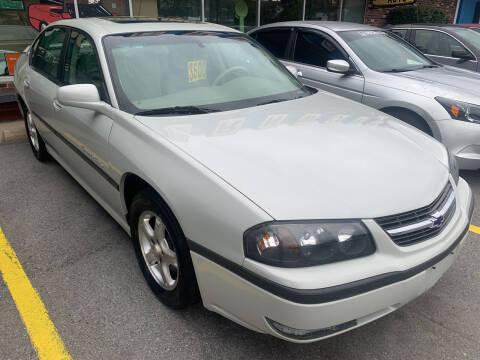 2003 Chevrolet Impala for sale at BURNWORTH AUTO INC in Windber PA