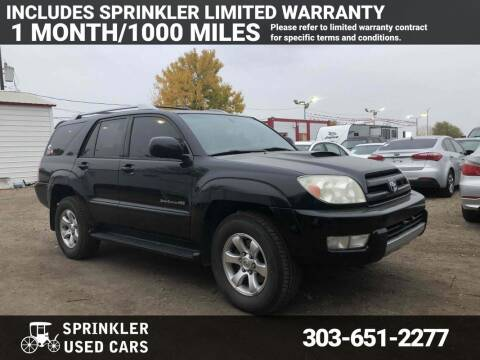 2004 Toyota 4Runner for sale at Sprinkler Used Cars in Longmont CO