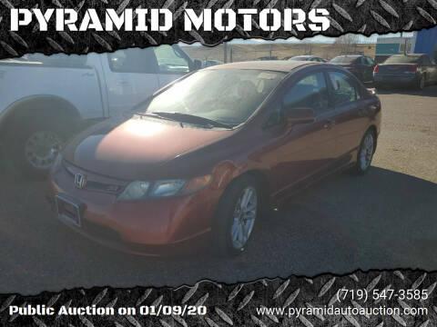 2007 Honda Civic for sale at PYRAMID MOTORS - Pueblo Lot in Pueblo CO