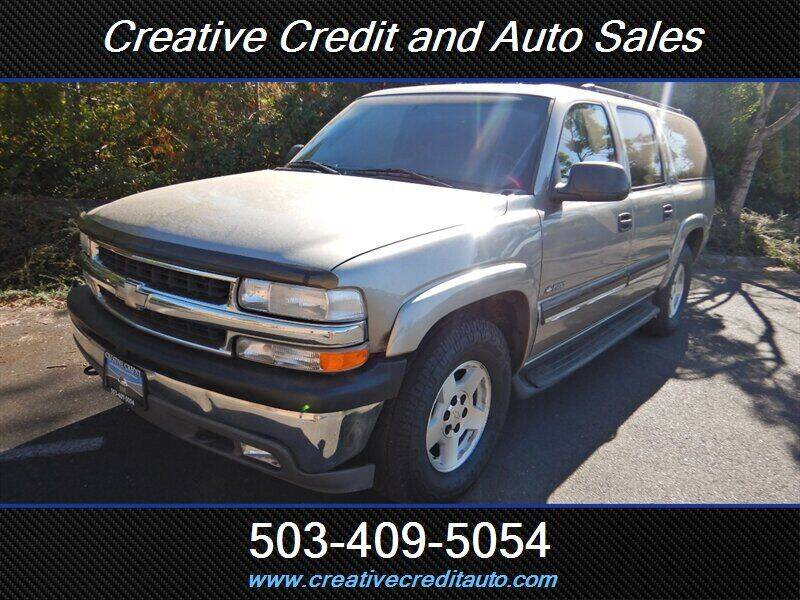 2001 Chevrolet Suburban for sale at Creative Credit & Auto Sales in Salem OR