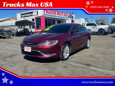 2016 Chrysler 200 for sale at Trucks Max USA in Manteca CA