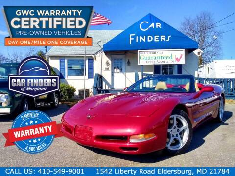 2000 Chevrolet Corvette for sale at CAR FINDERS OF MARYLAND LLC - Certified Cars in Eldersburg MD