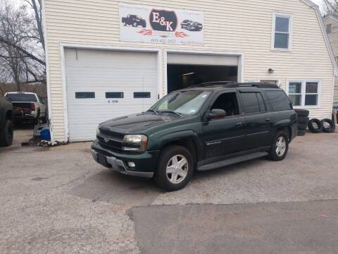 2003 Chevrolet TrailBlazer for sale at E & K Automotive in Derry NH
