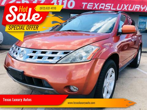 2003 Nissan Murano for sale at Texas Luxury Auto in Cedar Hill TX