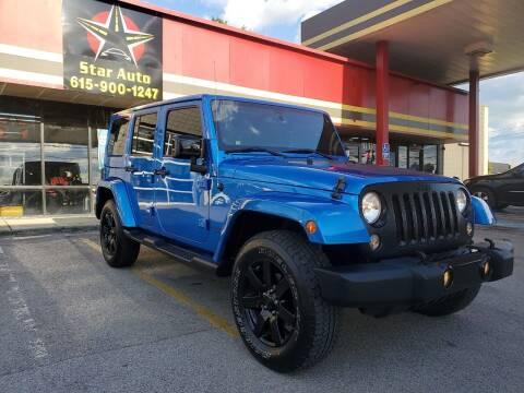 2014 Jeep Wrangler Unlimited for sale at Star Auto Inc. in Murfreesboro TN