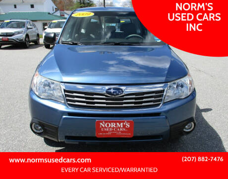 2009 Subaru Forester for sale at NORM'S USED CARS INC in Wiscasset ME