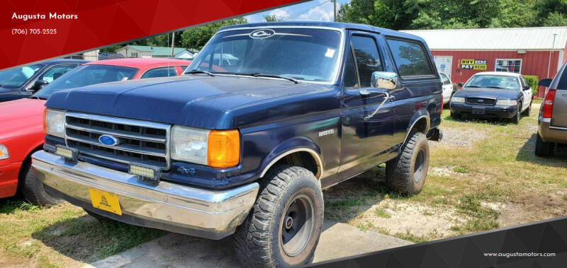 1988 Ford Bronco for sale at Augusta Motors in Augusta GA