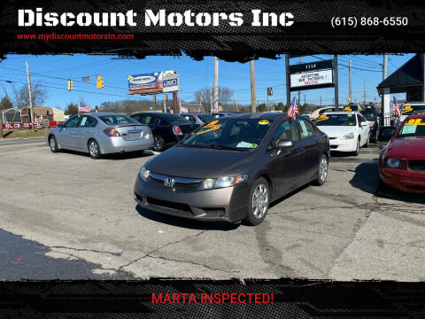 2010 Honda Civic for sale at Discount Motors Inc in Madison TN