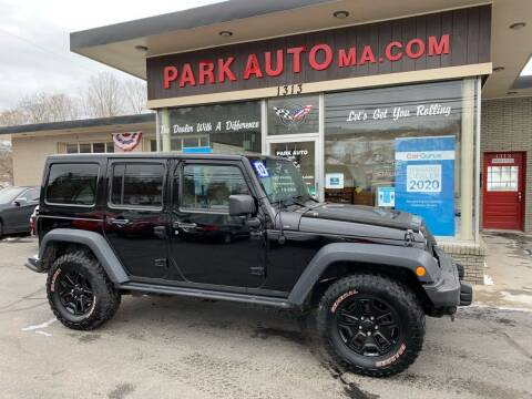 2013 Jeep Wrangler Unlimited for sale at Park Auto LLC in Palmer MA