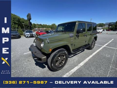 2016 Jeep Wrangler Unlimited for sale at Impex Auto Sales in Greensboro NC