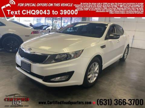 2013 Kia Optima for sale at CERTIFIED HEADQUARTERS in St James NY