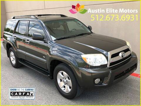 2007 Toyota 4Runner for sale at Austin Elite Motors in Austin TX