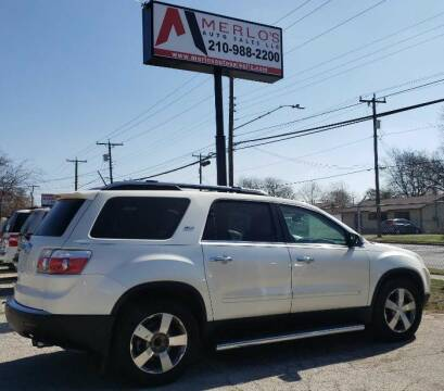 2009 GMC Acadia for sale at Merlo's Auto Sales LLC in San Antonio TX