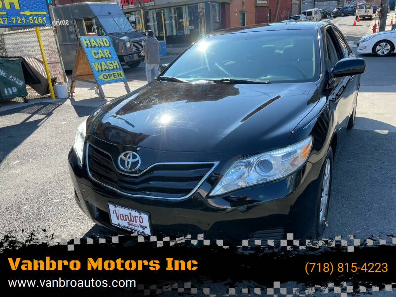 2010 Toyota Camry for sale at Vanbro Motors Inc in Staten Island NY