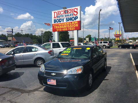 2006 Chevrolet Malibu for sale at Deckers Auto Sales Inc in Fayetteville NC