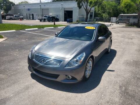 2013 Infiniti G37 Sedan for sale at Best Price Car Dealer in Hallandale Beach FL