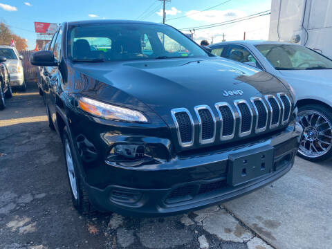 2014 Jeep Cherokee for sale at GRAND USED CARS  INC in Little Ferry NJ