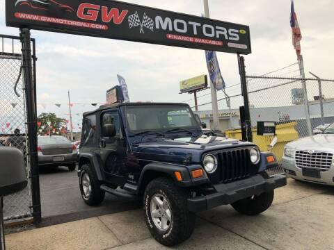 2003 Jeep Wrangler for sale at GW MOTORS in Newark NJ