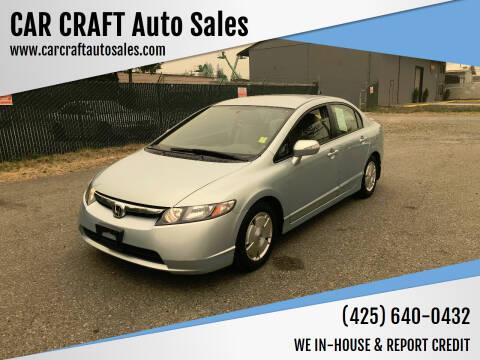 2007 Honda Civic for sale at Car Craft Auto Sales Inc in Lynnwood WA