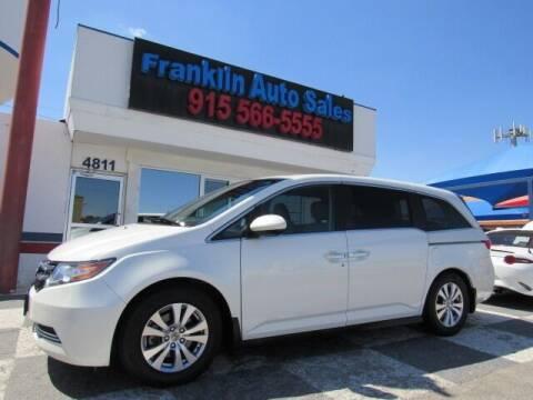 2014 Honda Odyssey for sale at Franklin Auto Sales in El Paso TX