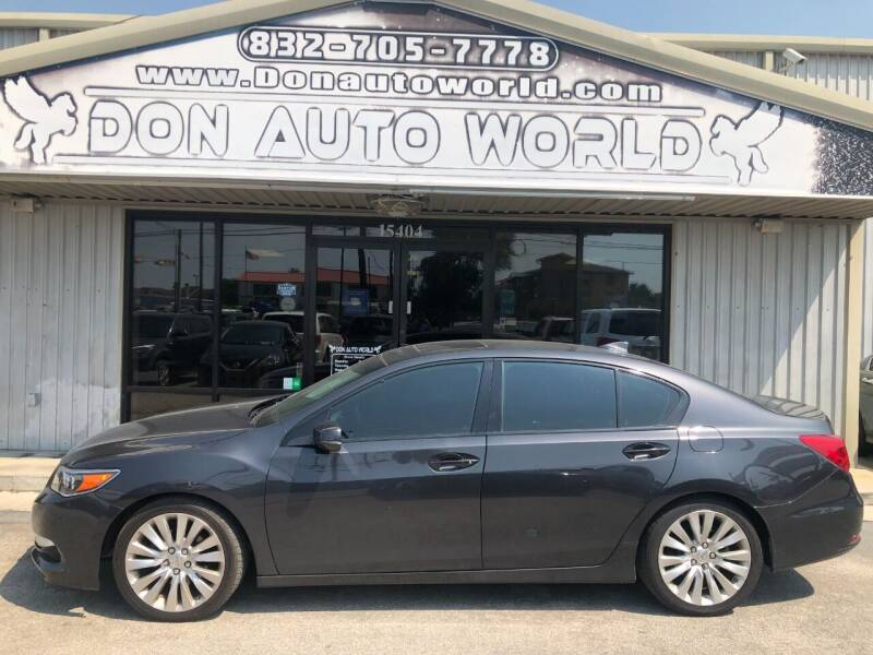 2014 Acura RLX for sale at Don Auto World in Houston TX