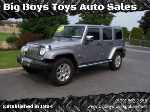 2016 Jeep Wrangler Unlimited for sale at Big Boys Toys Auto Sales in Spokane Valley WA