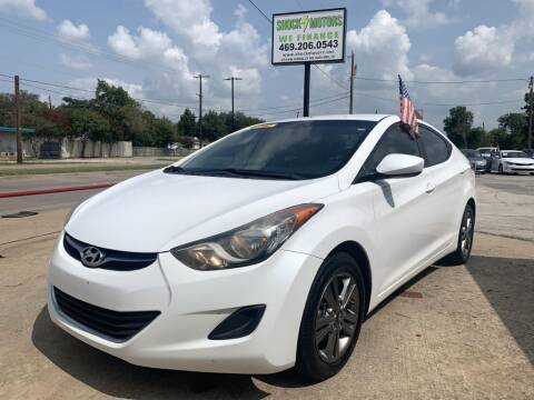 2013 Hyundai Elantra for sale at Shock Motors in Garland TX