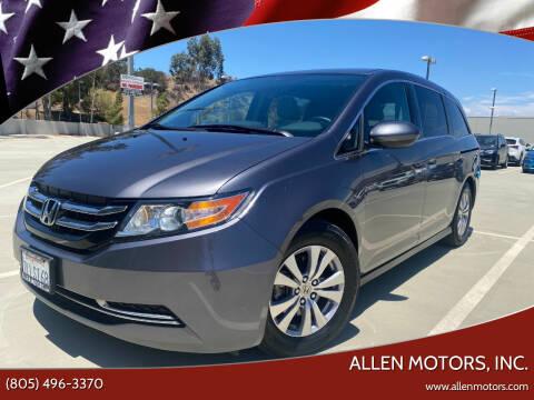 2015 Honda Odyssey for sale at Allen Motors, Inc. in Thousand Oaks CA