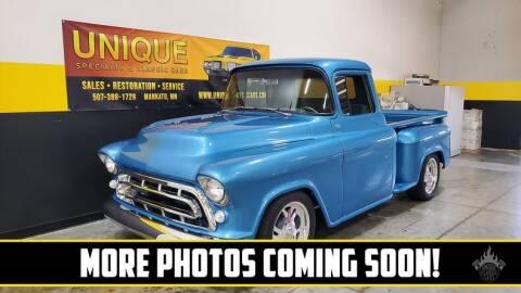 1957 Chevrolet 3100 for sale at UNIQUE SPECIALTY & CLASSICS in Mankato MN
