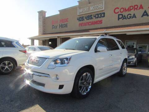 2012 GMC Acadia for sale at Import Motors in Bethany OK