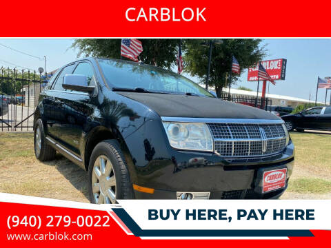 2007 Lincoln MKX for sale at CARBLOK in Lewisville TX
