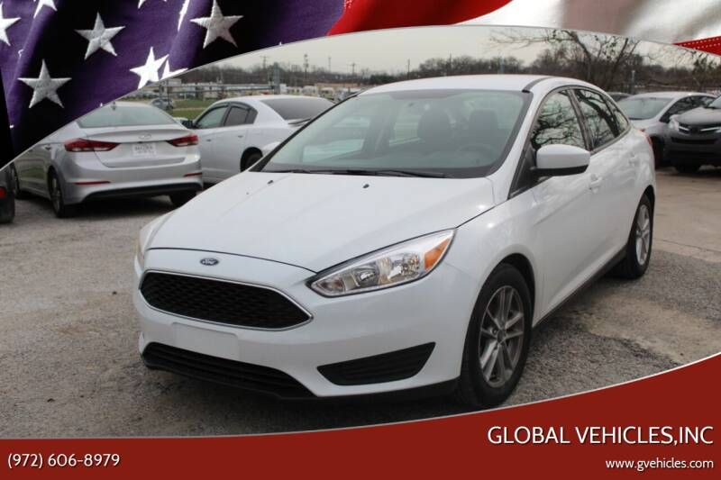 2018 Ford Focus for sale at Global Vehicles,Inc in Irving TX