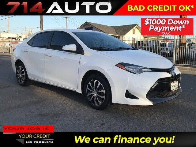 2017 Toyota Corolla for sale at 714 Auto in Orange CA