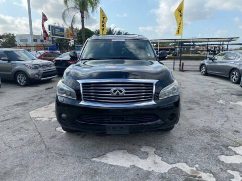 2012 Infiniti QX56 for sale at America Auto Wholesale Inc in Miami FL