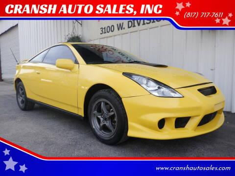 2003 Toyota Celica for sale at CRANSH AUTO SALES, INC in Arlington TX
